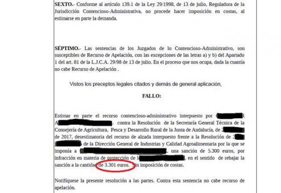 REDUCCIÓN DE UNA SANCIÓN ADMINISTRATIVA EN MÁS DE 50.000 €